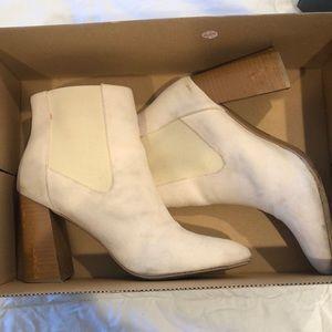 Shoes - Cream Heeled Booties